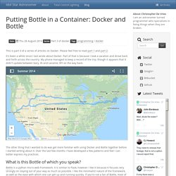 Putting Bottle in a Container: Docker and Bottle - Idol Star Astronomer
