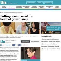 Putting feminism at the heart of governance