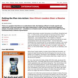 Putting the Plan into Action: How China's Leaders Steer a Massive Nation