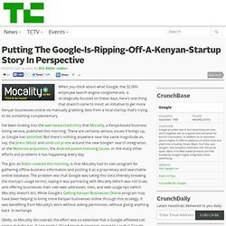 Putting The Google-Is-Ripping-Off-A-Kenyan-Startup Story In Perspective