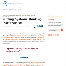 Putting Systems Thinking into Practice