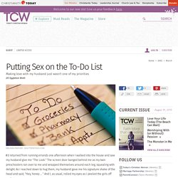 Putting Sex on the To-Do List