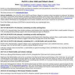 PuTTY Download Page