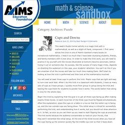 AIMS Puzzle Corner: Free Math Puzzles