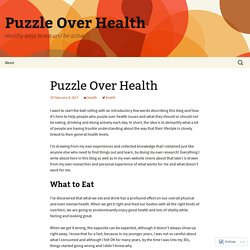 Puzzle Over Health