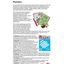 Puzzles by Eric C. Harshbarger