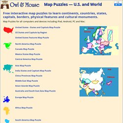 Map Puzzles - Learn U.S. and World Geography Online