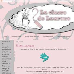 La maternelle de Laurène: Puzzles numériques