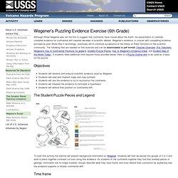 Wegener's Puzzling Evidence Exercise (6th Grade)