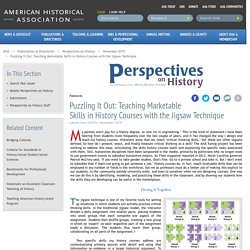 Puzzling It Out: Teaching Marketable Skills in History Courses with the Jigsaw Technique