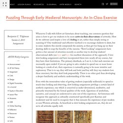 Puzzling Through Early Medieval Manuscripts: An In-Class Exercise