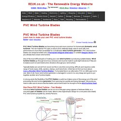 PVC Wind Turbine Blades