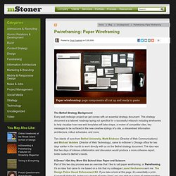Pwireframing: Paper Wireframing - mStoner - Blog