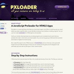 PxLoader | A Simple JavasScript Preloader