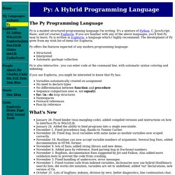 Py: A Hybrid Programming Language