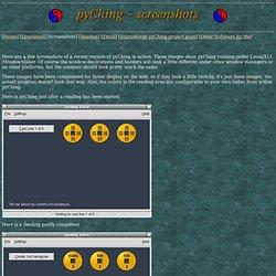 pyChing - Screenshots