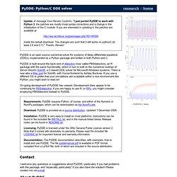 PyDDE: Python/C DDE solver