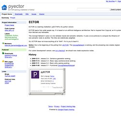 pyector - ECTOR learning chatterbot in Python