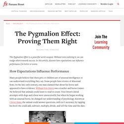 The Pygmalion Effect: Proving Them Right - Farnam Street - Pocket