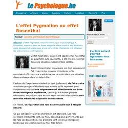 L'effet Pygmalion (Robert Rosenthal)