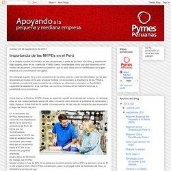 Pymes Peruanas: Importancia de las MYPEs en el Perú