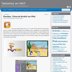 Pyonkee : Clone de Scratch sur iPad (même version que sur PC)