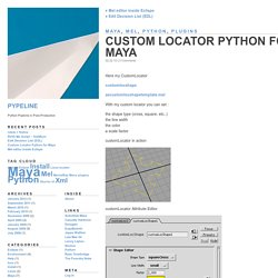 Pypeline » Blog Archive » Custom Locator Python for Maya