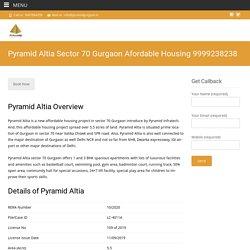Pyramid Altia Affordable Housing Sector 70 Gurgaon
