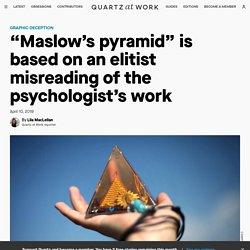 Maslow didn't make the pyramid that changed management history — Quartz at Work