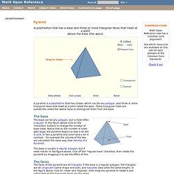 Pyramid - Math word definition