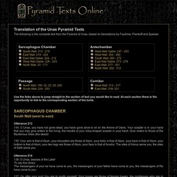 Pyramid Texts Online - English Translation