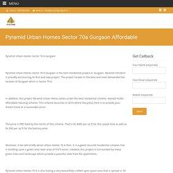 pyramid urban home sector 70a latest house
