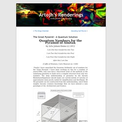 The Great Pyramid – A Quantum Solution