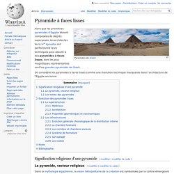 Pyramide à faces lisses