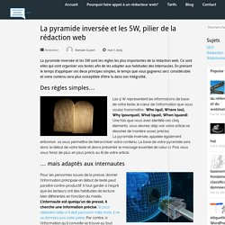 La pyramide inversée et les 5W, pilier de la rédaction web - A la rédac
