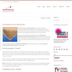 La pyramide inversée en rédaction Web