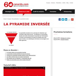 La pyramide inversée et la loi de proximité ou comment rédiger un message pour le Web