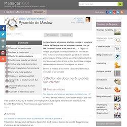 Pyramide de Maslow, sélection d'articles