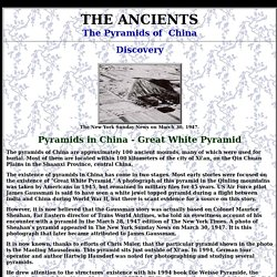 The Pyramids of China - Discovery and Area Five Xi'an Region 2