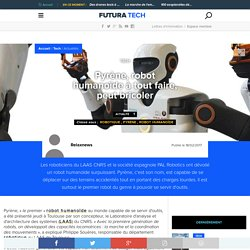 Pyrène, robot humanoïde à tout faire, peut bricoler
