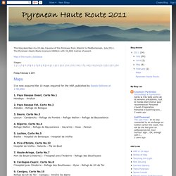 Pyrenean Haute Route 2011: February 2011