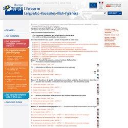 Les appels à projets FEADER du PDR Midi-Pyrénées - L'Europe en Languedoc-Roussillon-Midi-Pyrénées