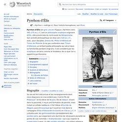 Pyrrhon d'Élis