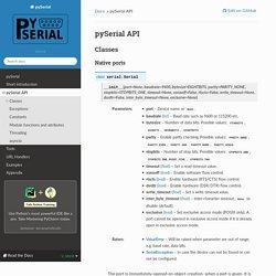 pySerial API — pySerial 3.4 documentation
