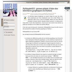 PySimpleGUI : prenez plaisir à faire des interfaces graphiques en Python