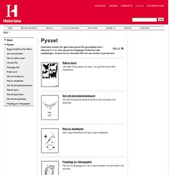 Pyssel - Historiska