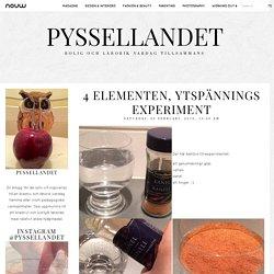 pysselLandet blog: 4 elementen, ytspännings experiment