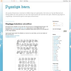 Färglägga bokstäver och siffror