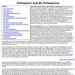 Pythagoras und die Pythagoreer