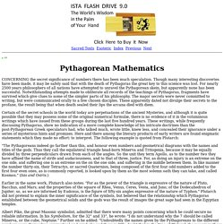 Secret Teachings of All Ages: Pythagorean Mathematics